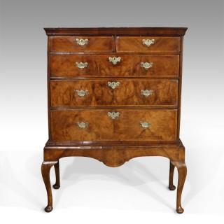 George I walnut chest