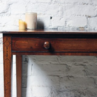 An Elegant Late 19thC Regency Style Mahogany Side Table c.1890