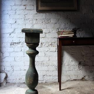 A Decorative 20thC Painted Pine Baluster Pedestal c.1930-40