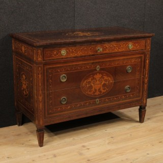 20th Century Italian Inlaid Dresser In Louis XVI Style