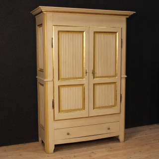 20th Century Italian Lacquered And Gilt Wardrobe