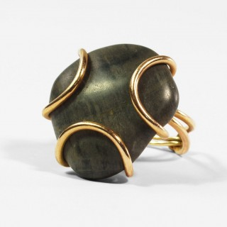Gold pebble ring c.1961