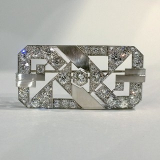 Art deco platinum brooch