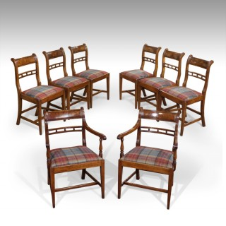 Set of 8 Regency dining chairs