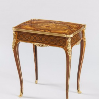 Marquetry Occasional Table by Charles Blake of London