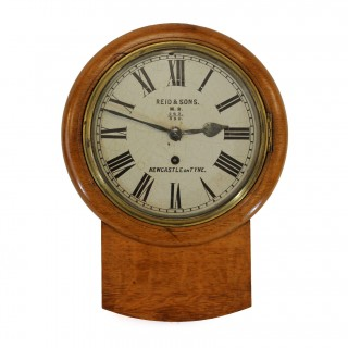 Small Drop Dial Wall Clock by Reid & Sons, Newcastle