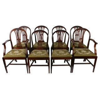 Set of Eight Hepplewhite Style Chairs