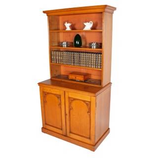 Victorian Oak Open Bookcase