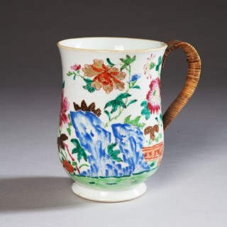 Chinese Export Famille Rose Porcelain Mug