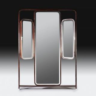 Austrian Triptych Cheval mirror by J. & J. Kohn