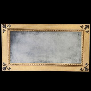 Regency Parcel Gilt Patent Overmantel Mirror