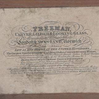 48 Inch Regency Parcel Gilt Mechanical Patent Overmantel Mirror