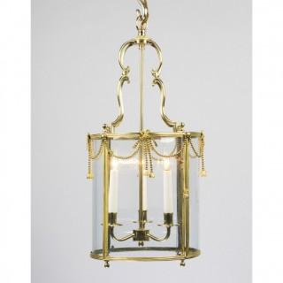 A Miniature Louis Xvi Brass Circular Lantern