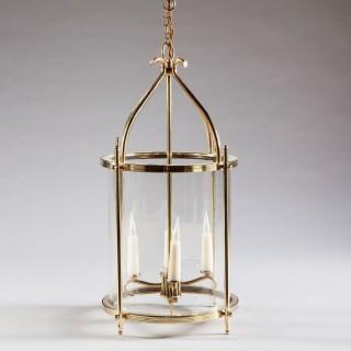 Art Deco Brass Cylinder Lantern