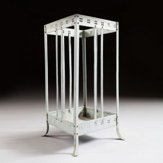 A Painted Metal Stick Stand Attributed To Joseph Hoffman