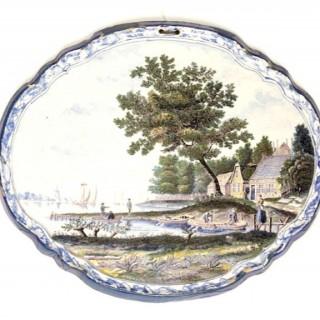 A Delft Landscape Plaque