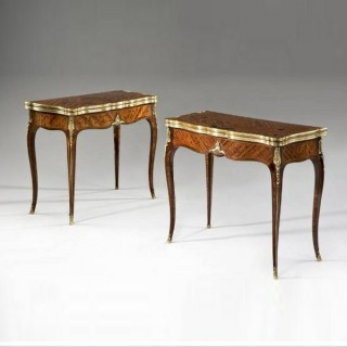 An Antiques pair of card tables