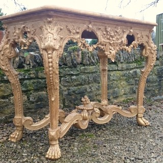 George II Period Giltwood Console Table