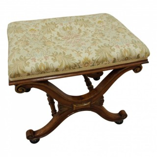 Regency Walnut Stool