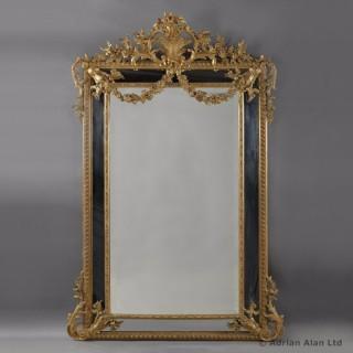Louis XVI Style Marginal Frame Giltwood Mirror