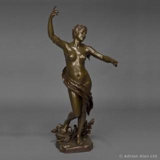 'La Jeunesse' - A Bronze Figure of Dancing Maiden