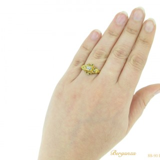 Tudor table cut diamond ring.
