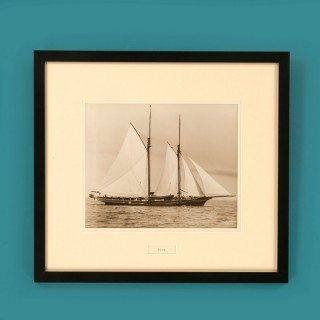 Yacht Foam, early silver photographic print by Beken of Cowes.