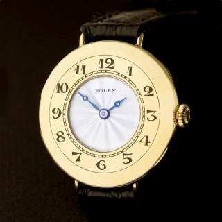 Rolex Rose Gold Half Hunter Wristwatch 1923