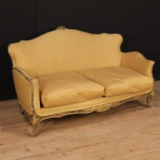 20th Century Venetian Lacquered And Gilt Sofa