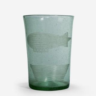 Unusual 1950s glass vase