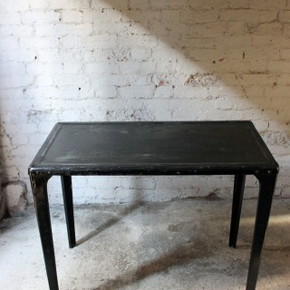 A Stylish Black Painted 20thC Cast Iron Industrial Table c.1950