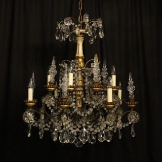 Italian Giltwood 8 Light Antique Chandelier