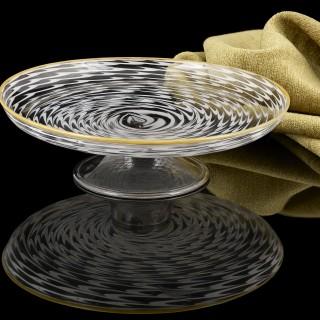 17th Century Unique Venetian Glass Tazza