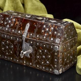 Spanish Colonial Tortoiseshell Casket