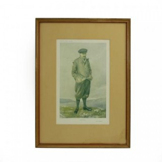 Vanity Fair Golf Print Robert Maxwell, North Berwick.