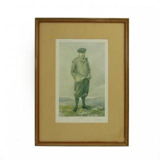 Vanity Fair Golf Print Robert Maxwell, North Berwick.