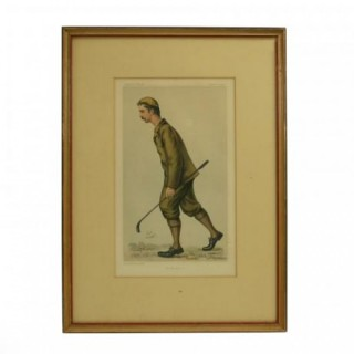 Vanity Fair Golf Print, 'Mr. John Ball'.