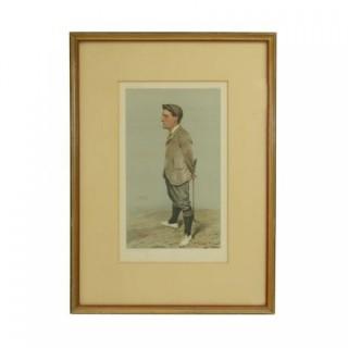 Vanity Fair Golf Print Horace Harold Hilton, Hoylake.
