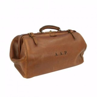 Vintage Leather luggage, Gladstone bag, Kit Bag.