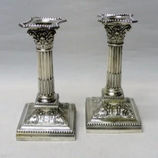 Victorian Silver Candlesticks