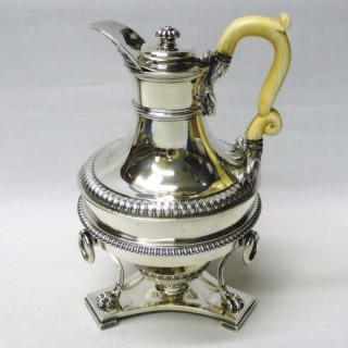 Antique Silver Coffee Jug and Stand by Paul Storr