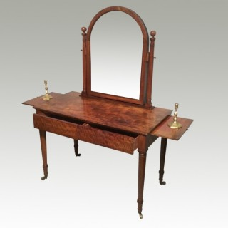 William IV mahogany dressing table.