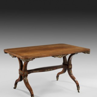 A Fine Regency Rosewood Centre Table,