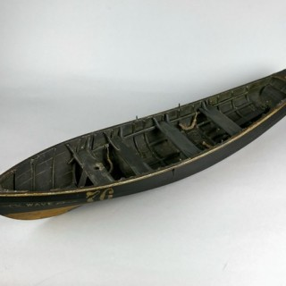 Detailed shipbuilder's model of a north east coast 'Coble'