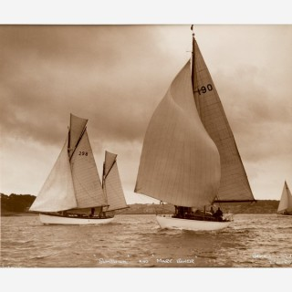 Silver gelatin photographic print by Beken - Yacht Sunshine and Mary Bower