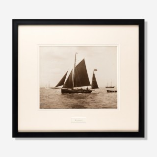 Early silver gelatin photographic print by Beken of Cowes - Gaffer Whimbrel