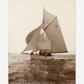 Early silver gelatin photographic print by Beken of Cowes - Yacht Tern III