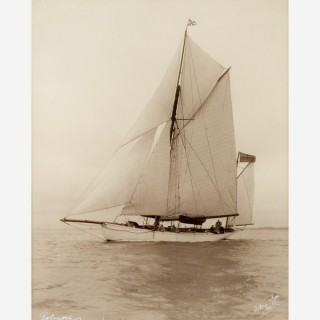 Early silver gelatin photographic print by Beken of Cowes - Yawl Palmosa RTYC