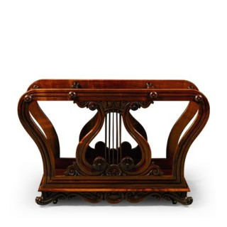 A William IV rosewood Canterbury