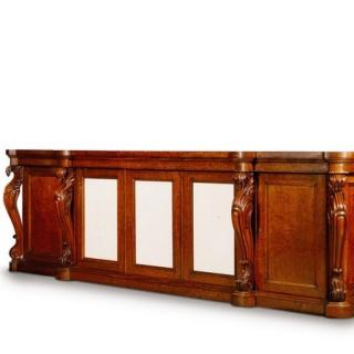 A large George IV plum pudding mahogany side cabinet
